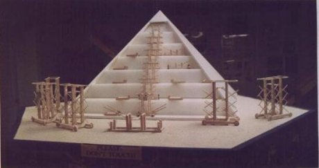 One of the pyramid displays